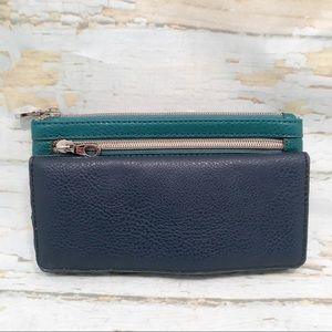 Relic- Teal and Navy Blue Wallet